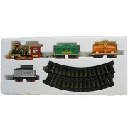 Battery Operated Light Sound Smoke ChooChoo Classical Train Track Set For Kids