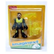 Imaginext W4696 - Dino Tech - Yellow & grey with yellow pick axe and yellow suit.