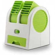 Astyler Portable Mini Dual Bladeless Adjustable Angles Scented Air USB Cooler - Assorted Colours