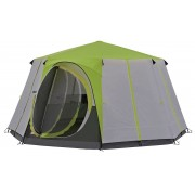 Coleman Cortes Octagon 8 Person Deluxe Family Tent Green Camping/Glamp