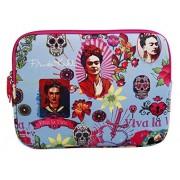 Frida Kahlo Mallette Housse Ordinateur 30 cm Bleu Clair / Rose 82917C