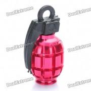 Enfriar en forma de granada Bike Bicycle Tyre valvula del neumatico Cap Dust Cover - Rojo (2 Paquete de piezas)