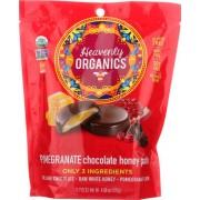 Heavenly Organics Organic Honey Patties Chocolate - Pomegranate - Case of 6 - 4.66 oz.