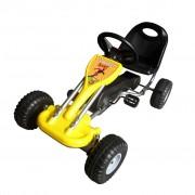 vidaXL Детски картинг с педали, цвят жълт