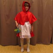 Costum scufita rosie - cod J010