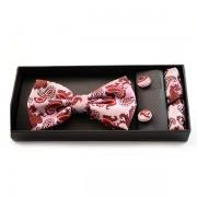 Accesorii barbati in combinatie de nuante roz si caramiziu