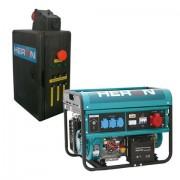 Benzinmotoros áramfejlesztő +HAV-3 indító automatika, max. 6000VA háromfázisú elektromos önindító (8