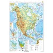 America de Nord. Harta fizico-geografică şi a principalelor resurse naturale de subsol 120x160 cm