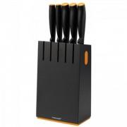 Fiskars - Késblokk, 5 késsel, új FF (fekete) (102638)