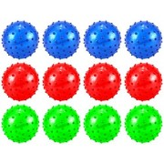 "Set Of 12 4"" Spiky Spiked Ball Childrens Kids Toy Play Ball, Perfect For Indoor/ Outdoor Play, Add On For Sports Playsets (Colors May Vary)"