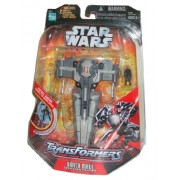 Transformers Star Wars Series 7 Inch Tall Action Figure - DARTH MAUL to SITH INFILTRATOR with 2 Miss