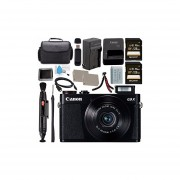Canon PowerShot G9 X Digital Camera (Black) 0511C001 + NB-13L Lithium Ion Battery + Charger + Sony 128GB SDXC Card + Carrying Case + Memory Card Wallet + Micro HDMI Cable + Flexible Tripod Bundle