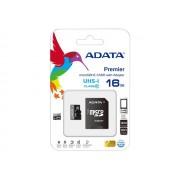 ADATA Premier UHS-I - Carte mémoire flash ( adaptateur microSDHC - SD inclus(e) ) - 16 Go - UHS Class 1 / Class10 - microSDHC UHS-I