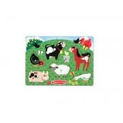 Puzzle lemn animale la ferma