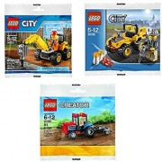 LEGO Town and Country Activity Bundle (3 Sets): City Demolition Driller Mini Set 30312 Creator Rare Exclusive Mini Trac