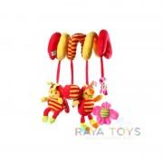 Плюшена бебешка играчка с калинки Babyono 999