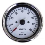 Contagiri per Vecchia 500 Abarth 80mm Bianco