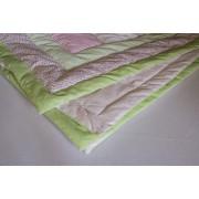 Prekrivač Patchwork Zeleni roze 145x115cm