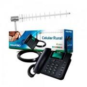 Kit Telefone Celular Rural 800 MHz CA-800 - Aquário