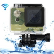 PULUZ U6000 Full HD 1080P 2.0 inch LCD Screen WiFi Waterproof Multi-function Sport Action Camcorder Novatek NT96650 Chipset 175-degree Wide-angle Lens (Camouflage)