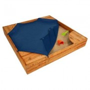 KidKraft Backyard 5' Square Sandbox with Cover FRPK1047