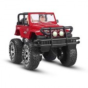 SZJJX 1:10 Remote Control Car 4WD Shaft Drive Truck Large Four-wheel Drive Remote Super Off-road racing Toy Radio Controlled rc Chargeable Off-road Rock Crawler(JJX 601 Vehicle Red)