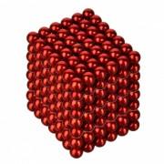 4.8~5mm Neodymium NIB Magnet Spheres with Steel Case - Red (216-Piece Pack)