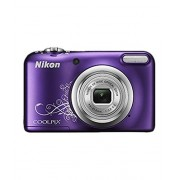 Nikon Coolpix A10 Point and Shoot Digital Camera (Purple) with 8GB Memory Card and Camera Case Free 8HRS Charging Time USB CHARGER