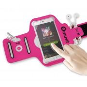 Armband Universal Muvit Fino Fucsia 4-4.7'' + Saco Desporto