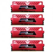 Memorie GeIL EVO Potenza Series Red 16GB (4x4GB) DDR4, 2666MHz, PC4-21300, CL15, Quad Channel Kit, GPR416GB2666C15QC