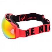 SEA AGRADABLE SNOW4200 anti-vaho gafas de lente esferica de esqui - Rojo