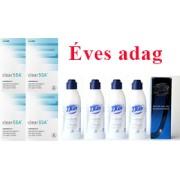 Clear 55A + Ápolószer (ÉVES ADAG - 24 db lencse + 4 db ápolószer)