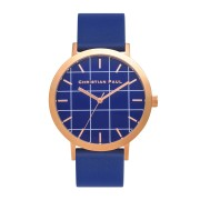 Christian Paul - Balmoral special edition Grid 43 MM - Rose Gold / Blue