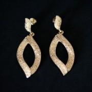 Earring Gold Plated Jewelry Semi Large Gilbert