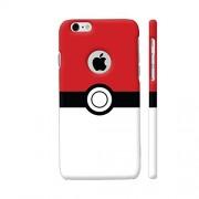 Colorpur Pokemon Go Red White Artwork On Apple iPhone 6 / 6s Logo Cut Cover (Designer Mobile Back Case) | Artist: Manik Chawla