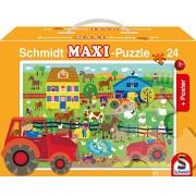 Schmidt Spiele 56176 on the Farm 24 pezzo di puzzle - Puzzle in cartone caso, comprende Poster