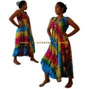 Stunning Beach Umbrella Ladies dress-Vivid colour Authentic Tie dye