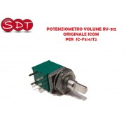 POTENZIOMETRO VOLUME RV-312 10KB ORIGINALE ICOM PER IC-F3/4/T2