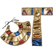 Loftus International Egyptian Collar & Belt Accessory Kit (2 Piece) One Size Gold/Blue/Red