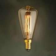 e14 st48 40w luz amarela bulbo edison tampa de rosca pequena lustre retro lâmpadas decorativas