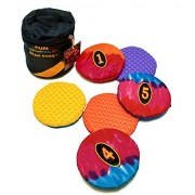 """Fun Gripper 6"""" Round Numbered 1-6 bean Bags w/Carry Case Assorted colors"""