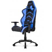 AKRacing Player Gaming Chair Black Blue Ергономичен геймърски стол