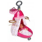 Smoby cărucior pentru înfăşarea păpuşilor de jucărie Baby Nurse cu pătuţ 220316 roz
