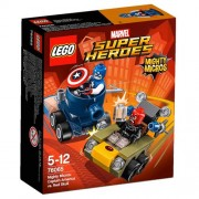 LEGO Super Heroes - Set Mighty Micros: Capitán América vs. Cráneo Rojo, multicolor (76065)