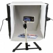 Hakutatz SSL-735 22W - cub foto 40cm cu 2 lumini + suport iPhone 4/4s/5 CADOU