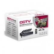 Sistem Supraveghere 8 Camere Video CCTV Exterior Infrarosu DVR Internet D1