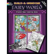 Build a Window Stained Glass Coloring Book, Fairy World by Jan Sovak