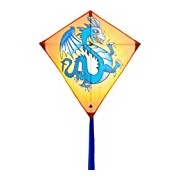 Invento 100106 Eddy Dragon - AGE 5, 68 x 68 cm And 2 m Line Children's Kite Dragon Kite Tail Ripstop Polyester 2-5 Beaufort