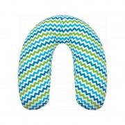 Womar Perna pentru gravide si alaptat Comfort Exclusive 160 cm cu poliester Albastru/Verde