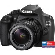 Aparat Foto D-SLR Canon EOS 1200D + Obiectiv EF-S 18-55mm f/3.5-5.6 III, Filmare Full HD, 18MP